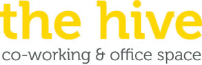 The Hive logo - co-working & office space
